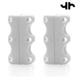 Fermetures Magnétiques pour Chaussures Tiehard-Couleur-Blanc