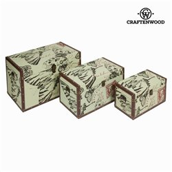 Lot de 3 coffres - Collection Printed by Craften Wood