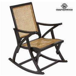 Chaise à bascule en rotin noire by Craften Wood