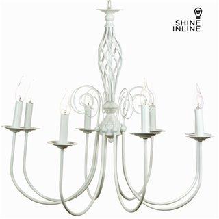 Lustre 8 bras blanc by Shine Inline