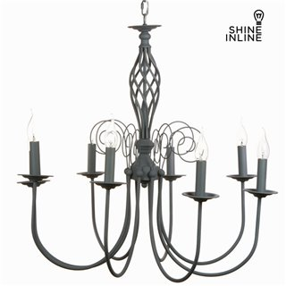 Lustre 8 bras gris by Shine Inline