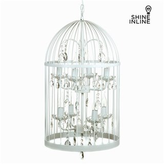 Lustre cage blanc by Shine Inline