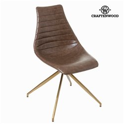 Chaise l'amour couleur marron by Craften Wood
