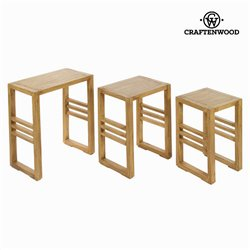 Lot de 3 tables gigognes ios - Collection Village by Craften Wood