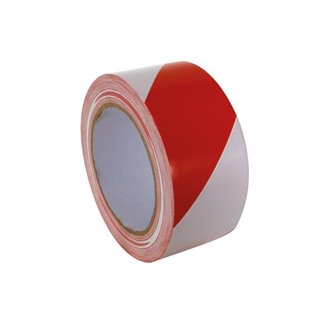 Ruban De Marquage - 50 Mm X 33 M - Rouge/Blanc