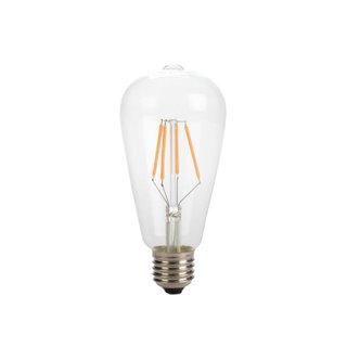 Ampoule À Filament Led - Style Rétro - St64 - 4 W - E27 - Blanc Chaud Intense