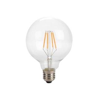 Ampoule À Filament Led - Style Rétro - G95 - 4 W - E27 - Blanc Chaud Intense