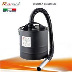 Bidon à cendres 18L pour aspirateur flexible métal