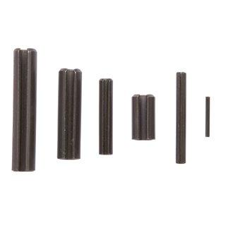 Boite de ± 120 goupilles élastiques en acier.