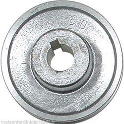 Poulies en aluminium. Axe 28 mm Poulie 80mm