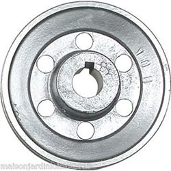 Poulies en aluminium. Axe 28 mm Poulie 120 mm