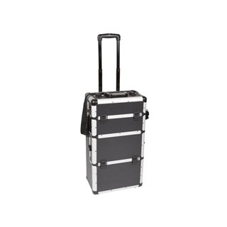 Mallette Trolley En Aluminium - Noir - 370 X 270 X 670 Mm