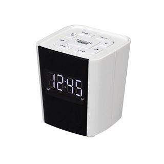 Cr-918White - Radio-Réveil Avec Radio Fm Pll Et Fonction Double Alarme - Blanc