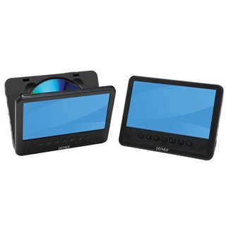 """Mtw-756Twin Nb - Lecteur Dvd Portable Avec Écran Lcd 7"""" + Écran Supplémentaire"""
