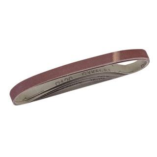 5 bandes abrasives 13 x 457 mm - Grain 120