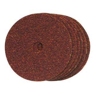 10 disques de ponçage en fibres 100 x 16 mm - Grain 60