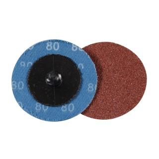Kit 5 disques abrasifs à changement rapide 50 mm - Grain 80