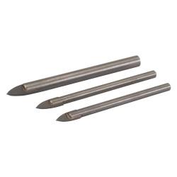 3 forets pour carrelage et verre - 3 pcs