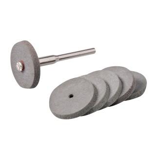 Ensemble de disques à polir en caoutchouc pour outil rotatif 7 pcs - 22 mm de diamètre