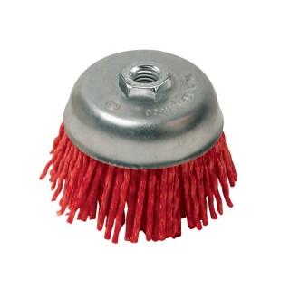 Brosse boisseau à fils de nylon abrasifs - 75 mm grossier