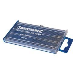 Coffret de 20 micro-forets acier HSS - 20 pcs