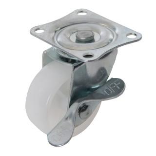 Roulette pivotante polypropylène à frein - 50 mm 50 kg