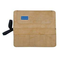 Trousse en daim pour burins et ciseaux à 8 poches - 440 x 380 mm