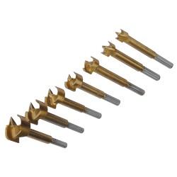 Jeu de 7 mèches Forstner revêtues de titane - 12 - 35 mm