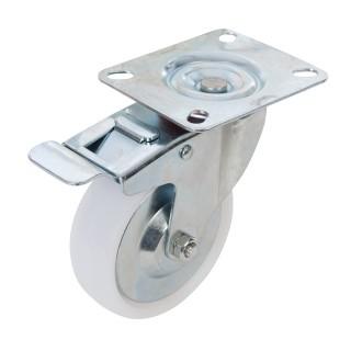 Roulette pivotante polypropylène à frein - 125 mm 160 kg