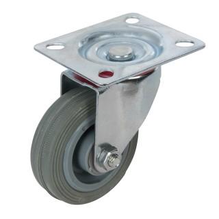 Roulette pivotante caoutchouc - 75 mm 50 kg