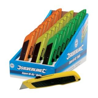 Boîte présentoir de 24 cutters Expert fluo - 24 pcs
