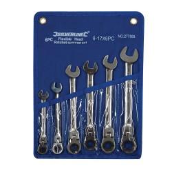 Trousse de 6 clés mixtes à cliquet à tête inclinable - 8 - 17 mm
