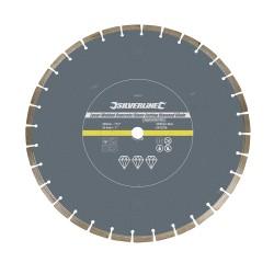 Disque diamanté à tronçonner le béton et la pierre soudé au laser - Segmenté 450 x 25,4 mm