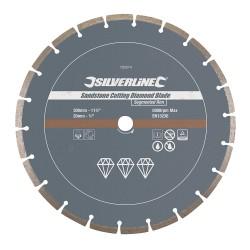 Disque diamanté à tronçonner le grès - Segmenté 300 x 20 mm