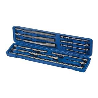 Coffret 12 pièces de forets et burins à maçonnerie SDS-Plus - 12 pcs