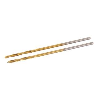 Jeu de 2 mèches en acier rapide HSS titanées - 1,0 mm
