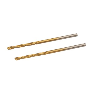 Jeu de 2 mèches en acier rapide HSS titanées - 2,0 mm