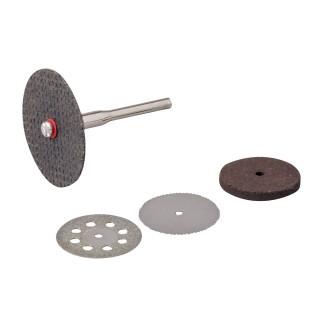 Ensemble de disques de coupe et meules pour outil rotatif 5 pcs - 22, 32 mm de diamètre