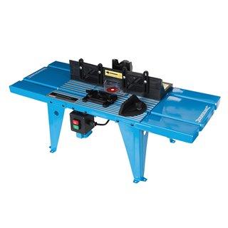 Table de défonceuse avec rapporteur - 850 x 330 mm