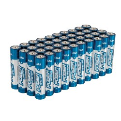 Lot de 40 piles alcalines Super LR03 type AAA - Lot de 40