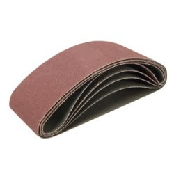 Lot de 5 bandes abrasives 65 x 410 mm - Grains 40, 60, 120 et 2 x 80