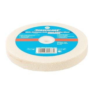 Meule en oxyde d'aluminium blanc pour touret à meuler - 150 x 20 mm - Grain moyen