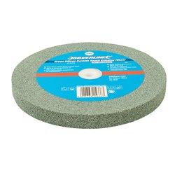 Meule en carbure de silicium vert pour touret à meuler - 200 x 20 mm - Grain moyen