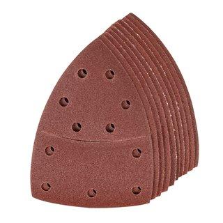 Lot de 10 feuilles abrasives auto-agrippantes 102 x 62 mm, 93 mm - Grain 120