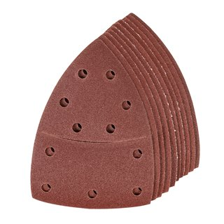 Lot de 10 feuilles abrasives auto-agrippantes 102 x 62 mm, 93 mm - Grain 120