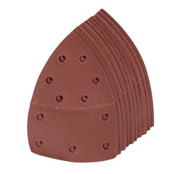 Lot de 10 feuilles abrasives auto-agrippantes 102 x 62 mm, 93 mm - Grain 180
