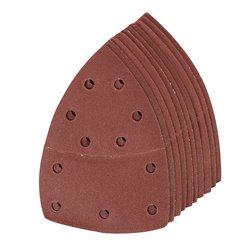 Lot de 10 feuilles abrasives auto-agrippantes 102 x 62 mm, 93 mm - Grain 180