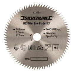 Lame de mini-scie HSS - ø 85 mm - Alésage 10 mm - 20 dents