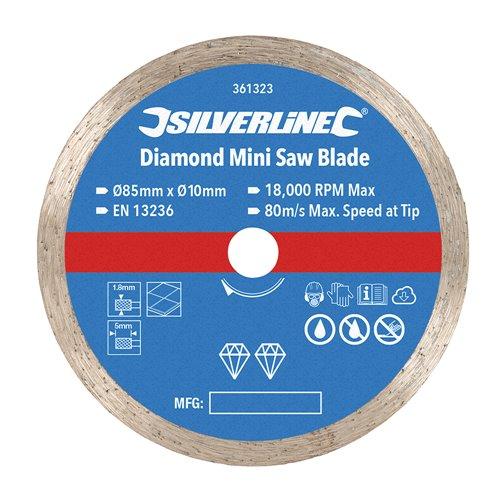 Disque diamant pour mini-scie - ø 85 mm - Alésage 10 mm