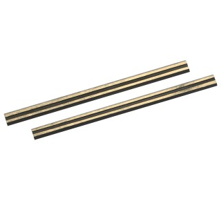 2 fers de rabot carbure de tungstène - 80 x 5,5 x 1,1 mm